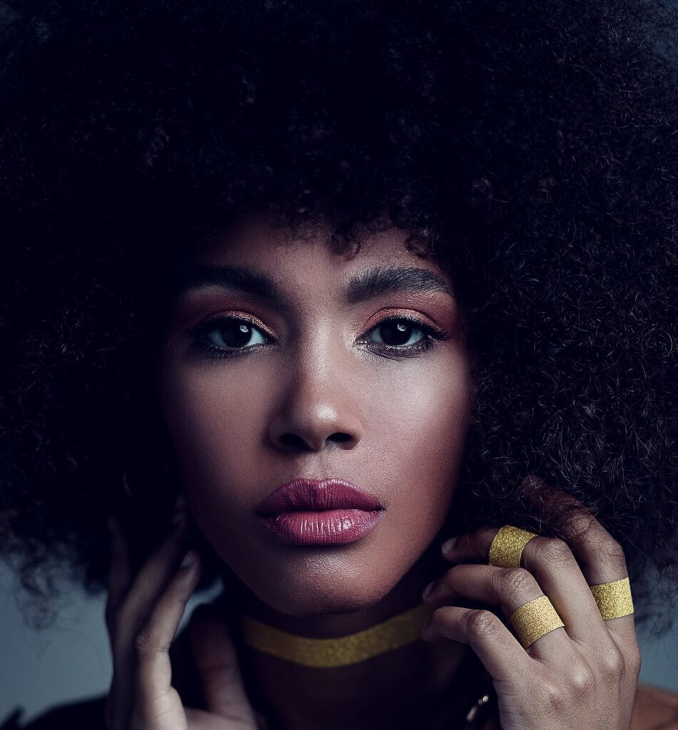 african american woman's face