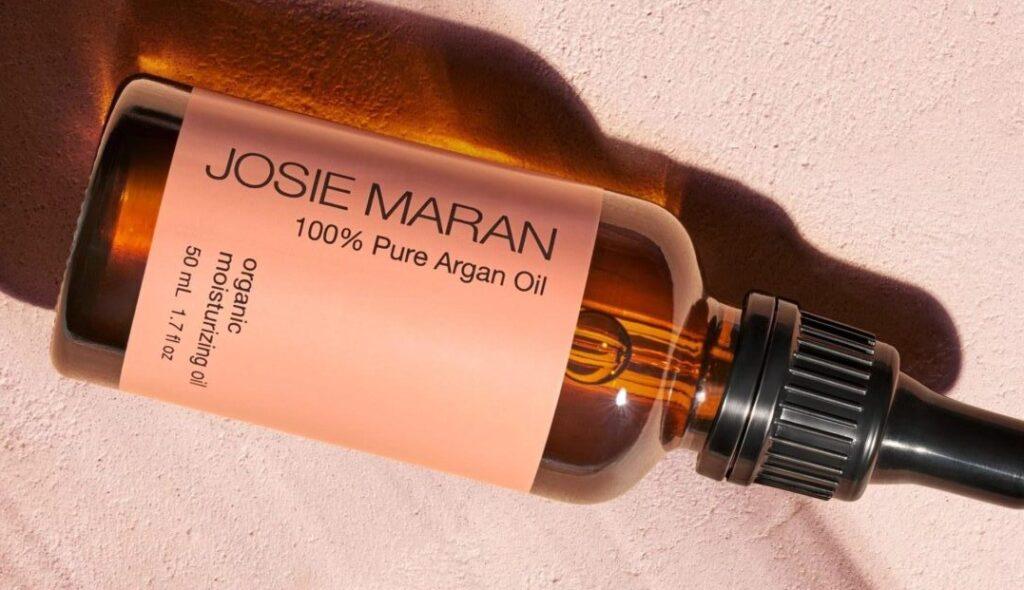 bottle of JOSIE MARAN ARGAN OIL