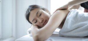 asian woman doing massage