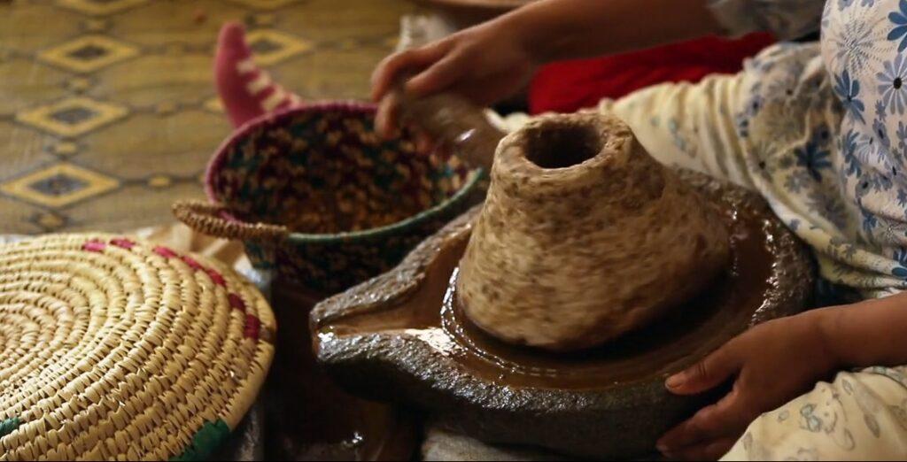 the process of making argan