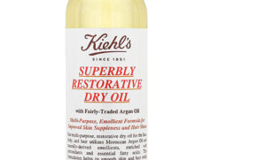 bottle of KIEHL's argan oil